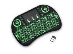 Mini Teclado Air Mouse Touch Sem Fio Tv Wireless Com Led