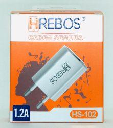 Fonte Carregador Hrebos 1.2a Usb Turbo Hs-102