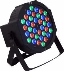 Refletor Led Par 64 Rgb 36 Leds 1w Slim Digital