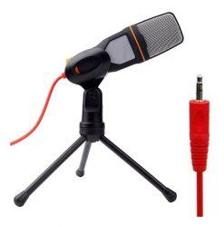 Microfone Condensador Le908 Estúdio Pc Cabo P2 3,5mm Com Fio
