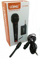 Microfone Sem Fio Profissional Completo Lelong Le 996w