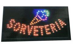 Placa Led Quadro Letreiro Luminoso Sorveteria 110/220