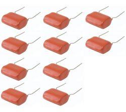 Kit Com 10 Capacitores 2,2x250 Para Super Tweeter 225k 250v
