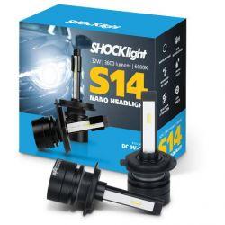 Par Lâmpada led H7 shocklight S14 - (NANO)