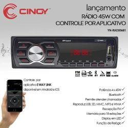Rádio Mp3 Cinoy 12v 45w