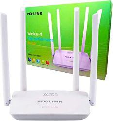 Roteador Wireles Wifi Sem Fio 300mbps 4 Antenas LV-WR08 Pix Link 20dBm